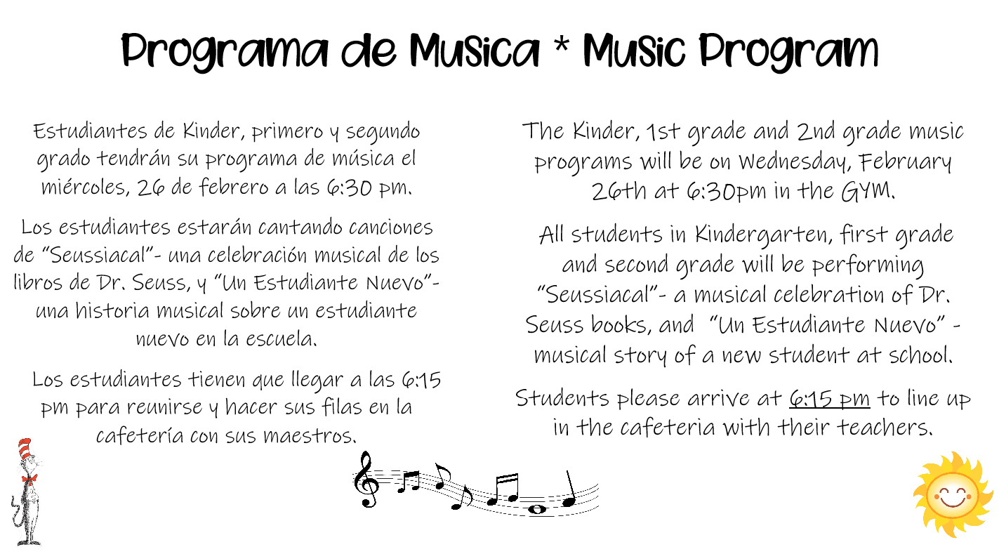 Info about music program